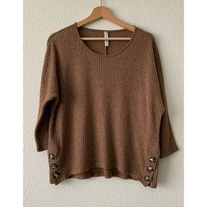 Per Seption Concept Brown Ribbed Sweater